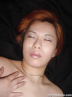 Yummi japanese amateur shows her tight pussy